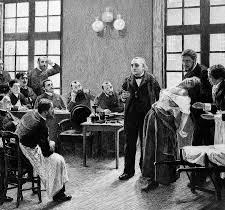 Jean Martin Charcot going through the demonstration drill with a hysterical patient