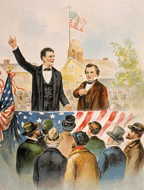 The Lincoln Douglas Debate(s) - Lincoln was not elected on this occasion (Kean Collection/Hulton Archive/Getty Images)